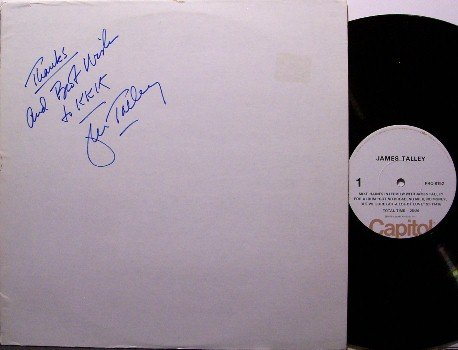 Talley, James - Interview - Signed Vinyl LP Record - 1975 White Label Promo - Country