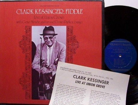 Kessinger, Clark - Live At Union Grove - Vinyl LP Record + Insert - Folkways Bluegrass