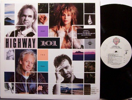 Highway 101 - Paint The Town - Vinyl LP Record - Promo - Country