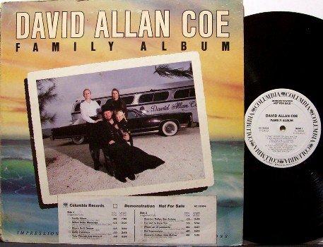 Coe, David Allan - Family Album - Vinyl LP Record - White Label Promo - Country