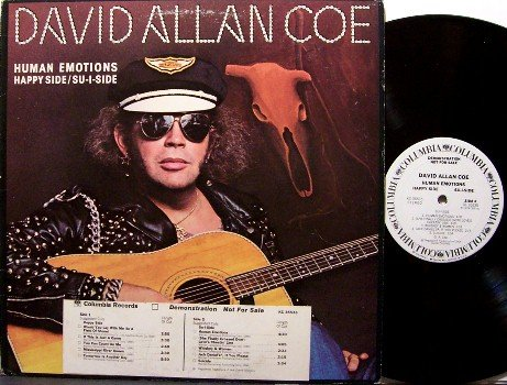 Coe, David Allan - Human Emotions - Vinyl LP Record - White Label Promo - Country