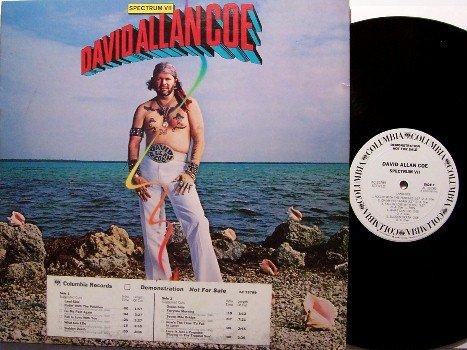Coe, David Allan - Spectrum VII - Vinyl LP Record - White Label Promo - Country