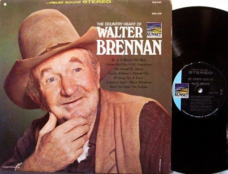 Brennan, Walter - The Country Heart Of - Vinyl LP Record - Movie TV Actor