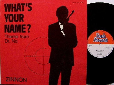 """Zinnon - What's Your Name Theme From Dr. No - German 12"""" Single VInyl Record - Name? - Rock"""