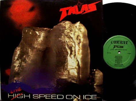 Talas - Live Speed On Ice - Vinyl LP Record - Billy Sheehan - Combat Label - Rock