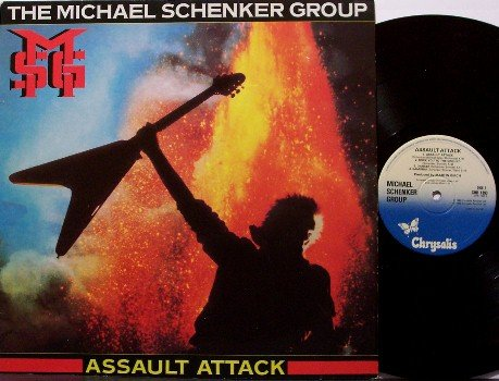 Schenker, Michael Group - Assault Attack - Vinyl LP Record - UK Pressing - MSG / UFO - Rock