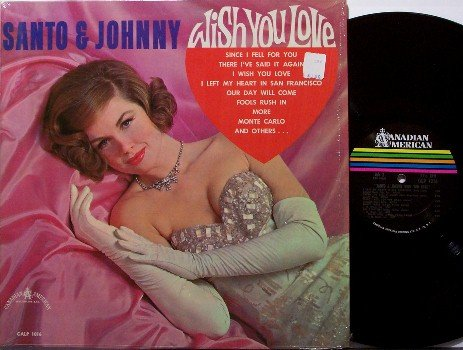Santo & Johnny - Wish You Love - Vinyl LP Record - Mono - Rock