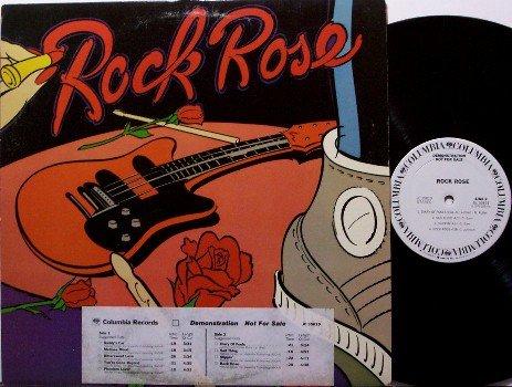 Rock Rose - Self Titled - Vinyl LP Record - White Label Promo - L.A. Rock