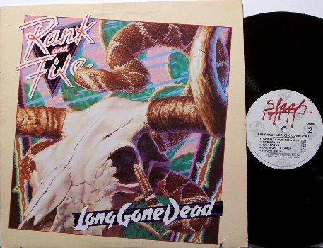 Rank And File - Long Gone Dead - Vinyl LP Record - Alternative Rock