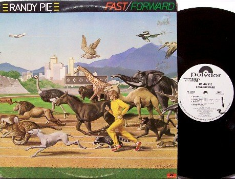 Pie, Randy - Fast Forward - Vinyl LP Record - White Label Promo - Rock