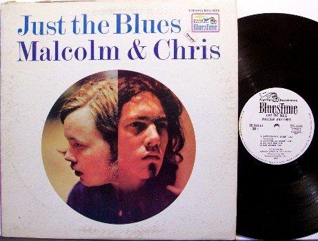 Malcolm & Chris - Just The Blues - White Label Promo - Vinyl LP Record - Flying Dutchman - Blues