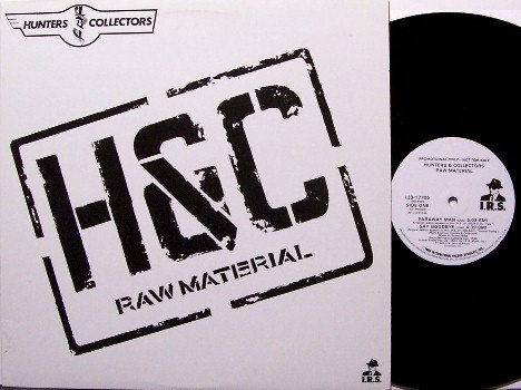 Hunters And Collectors - Raw Material - Promo Only Live EP - Vinyl LP Record - H&C - Rock