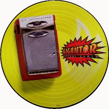 Gigantor Picture Disc - G-Force Radio - Vinyl LP Record - German Rock