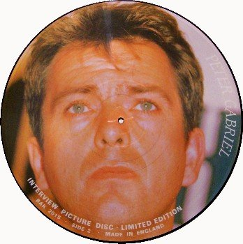 Gabriel, Peter - Picture Disc - Vinyl LP Record - Interview - UK Pressing -Prog Rock