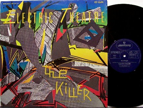 "Electric Theatre - German Vinyl 12"" Single Record - The Killer / Fire Drum - Rock"