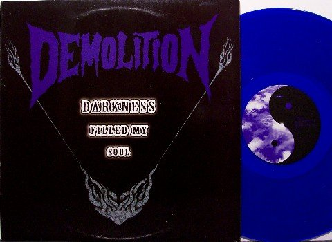 Demolition - Darkness Filled My Soul - Blue Colored Vinyl - LP Record + Sticker - Japan Metal Rock