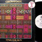 Crowfoot - Find The Sun - White Label Promo - Vinyl LP Record - Don Francisco - Rock