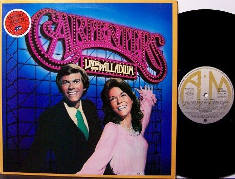 Carpenters, The - Live At The Palladium - UK Pressing - Vinyl LP Record - Pop