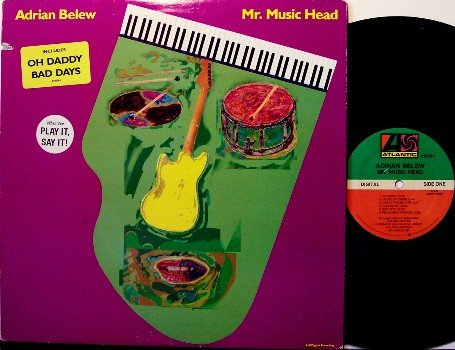 Belew, Adrian - Mr. Music Head - Vinyl LP Record - Rock