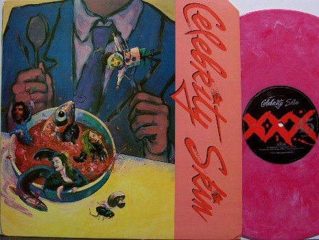 Celebrity Skin - Self Titled - Pink Swirl Colored Vinyl - LP Record - Los Angeles Metal Rock
