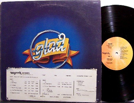 Glad - Self Titled - VInyl LP Record - Promo with DJ Timing Strip - Christian