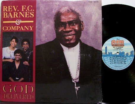 Barnes, Reverend F.C. & Company - God Delivered - Vinyl LP Record - Christian Gospel