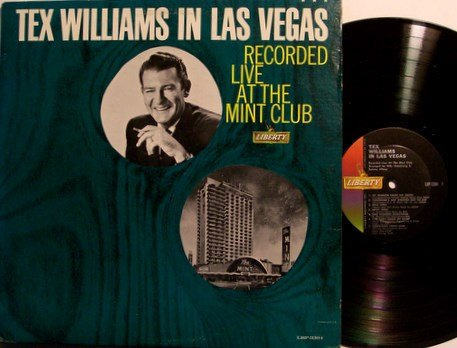 Williams, Tex - In Las Vegas - Vinyl LP Record - Mono - Country Western