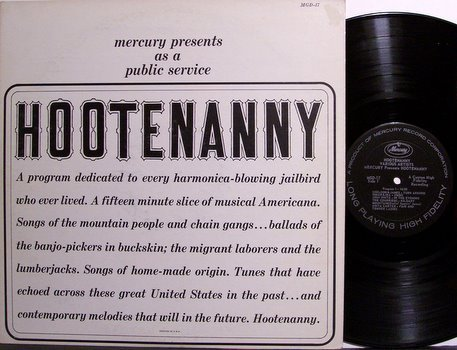 Hootenanny - Mercury Records Vintage Americana Promo Release with Emcee - Vinyl LP Record - Folk