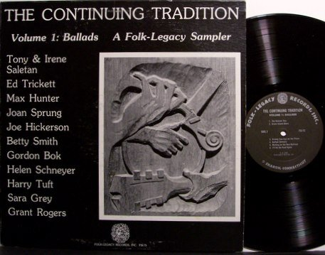 Folk Legacy Sampler - Ballads The Continuing Tradition - Vinyl LP Record