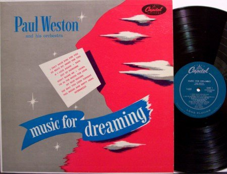 Weston, Paul & His Orchestra - Music For Dreaming - Vinyl LP Record - Exotic Jazz
