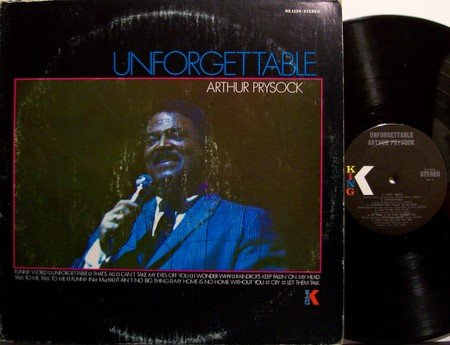 Prysock, Arthur - Unforgettable - Vinyl LP Record - R&B Jazz