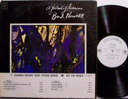 Powell, Bud - A Portrait Of Thelonious Monk - Vinyl LP Record - White Label Promo - Mono - Jazz