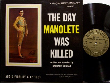 Manolete Bull Fighter - The Day Manolete Was Killed - Vinyl LP Record - Death Photos