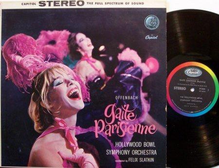 Gaite Parisienne - Felix Slatkin Conductor - Vinyl LP Record - Cheesecake Sexy Weird Unusual