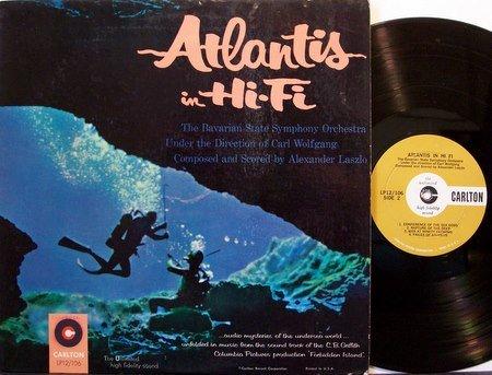 Atlantis In Hi Fi - Undersea Theme - Vinyl LP Record - Mono - Forbidden Island Soundtrack