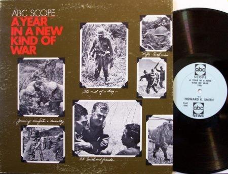 ABC Scope - A Year In A New Kind Of War - Vinyl LP Record - 1966 Vietnam War Report - Peter Jennings