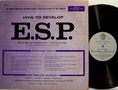 E.S.P. - How To Develop - Harold Sherman - Vinyl LP Record - Occult ESP Teaching