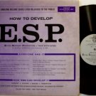 E.S.P. - How To Develop - Harold Sherman - Vinyl LP Record - Occult ESP Teaching
