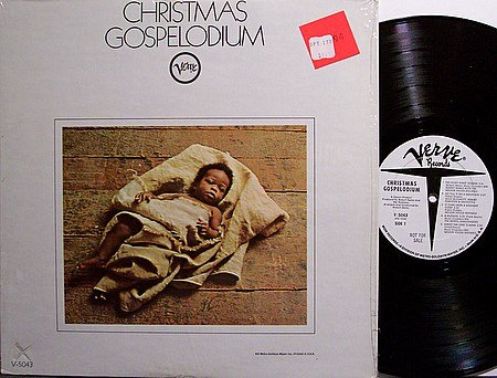 Christmas Gospelodium - Vinyl LP Record - White Label Promo - Mono - Black Gospel