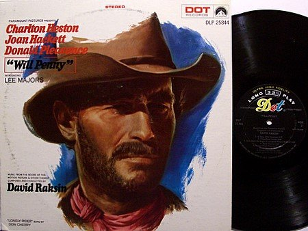 Will Penny - Soundtrack - Lee Majors - Vinyl LP Record - David Raskin / Don Cherry Music - OST