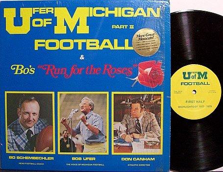 University Of Michigan - Bo's Run For The Roses - Vinyl LP Record - U Of M Football Sports