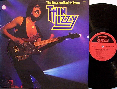 Thin Lizzy - The Boys Are Back In Town - Vinyl LP Record - UK Pressing - Rock