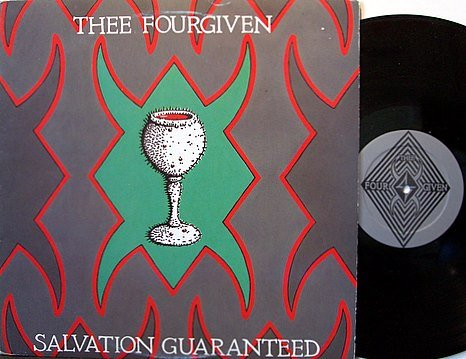 Thee Fourgiven - Salvation Guaranteed - Vinyl LP Record + Insert - California Goth Dark Punk Rock