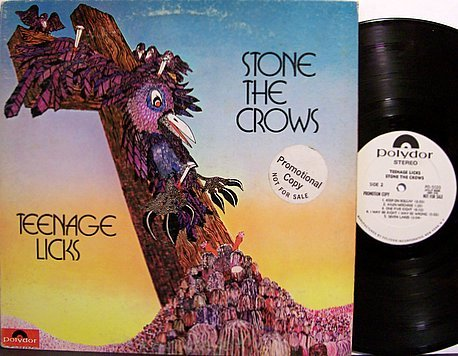 Stone The Crows - Teenage Licks - Vinyl LP Record - White Label Promo - Psych Rock