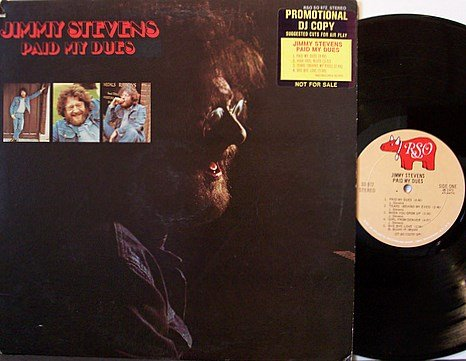 Stevens, Jimmy - Paid My Dues - Vinyl LP Record - Promo - Frampton / Gibb etc - Rock