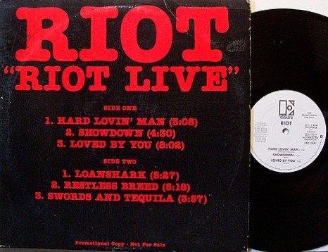 Riot - Riot Live - Promo Only - Vinyl Mini LP Record - Rock