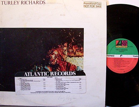 Richards, Turley - Therfu - Vinyl LP Record - Promo DJTS DJ Timing Strip on cover - Rock