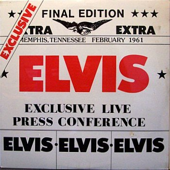 Presley, Elvis - Exclusive Live Press Conference - Sealed Vinyl LP Record - Spoken Word / Rock