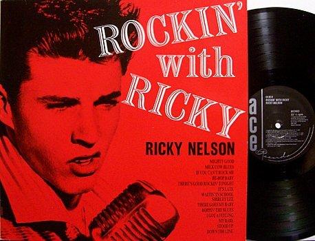 Nelson, Ricky - Rockin' With Ricky - UK Pressing - Vinyl LP Record - Ace Label Mono - Rock