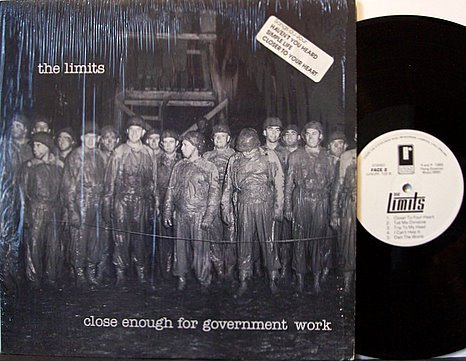 Limits, The - Close Enough For Government Work - UK Pressing - Vinyl LP Record - Indie Rock